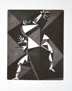 Composition - Original Etching by Mario Gianmarco - Late 20th Century