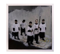 Altar Boys - Original Oil Painting by Roberto De Francisci - 2013