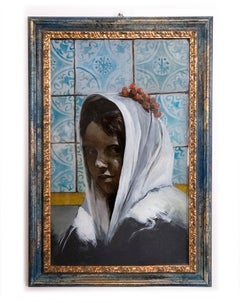 Woman From Sciacca - Original Oil Painting by Roberto De Francisci - 2010s