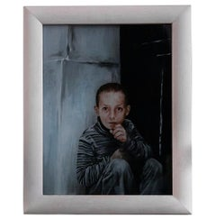 The Child - Original Oil Painting by Roberto De Francisci - 2011
