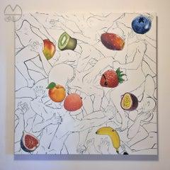 Fruit Salad - Original Ink and Acrylic by EMPHI - 2020