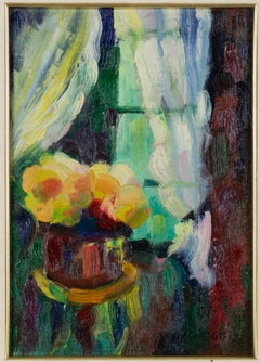 The Window  - Oil on Panel - Early 20th Century
