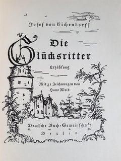 Die Glucksritter - Vintage Rare Book Illustrated by Hans Meid - 1928