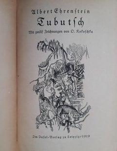 Tubutsch - Vintage Rare Book Illustrated by Oskar Kokoschka - 1919