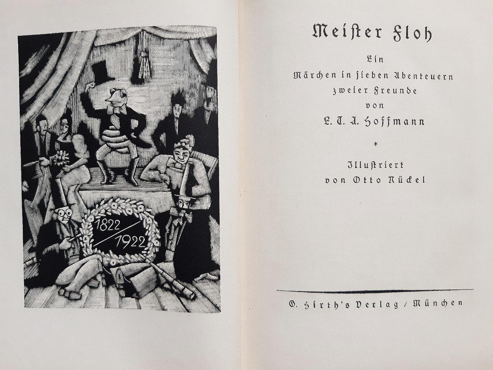 Meister Floh - Vintage Rare Book Illustrated by Otto Nückel - 1922