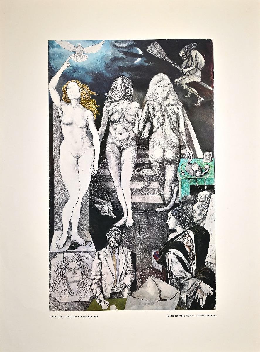 Lies - From The Allegories - Original Offset by Renato Guttuso - 1981