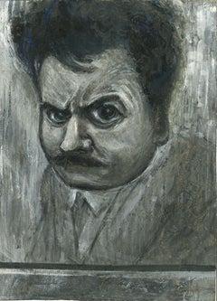 Portrait 1910 - China ink and Tempera by Gabriele Galantara - 1910