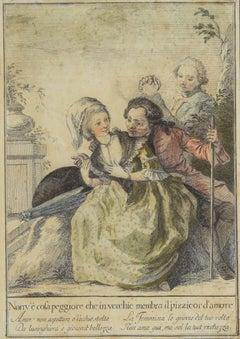 Tuscan Proverbs - Original Etching by Carlo Lasinio - 1786
