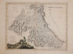 Ancient Map of Romagna - Original Etching by Antonio Zatta - 1783