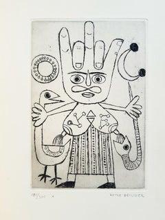 Le Char Triomphal de l'Antimoine-Vintage Rare Book Illustrated by V.Brauner-1949