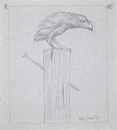 The Crow - Original Pencil Drawing by Leo Guida - 1972