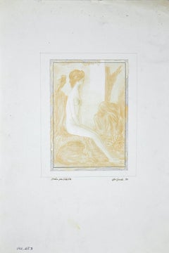 Study for a Sybil - Original Drawing by Leo Guida - 1970