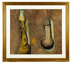 Elements of Composition - Original Oil on Canvas by Mario Asnago - 1960s