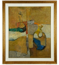 Still Life - Original Oil on Canvas by Mario Asnago - 1968