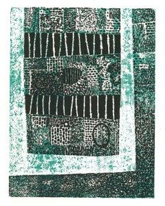 Composition - Original Woodcut by Luigi Spacal - 1970s