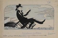 Poetic Decadence  - Original Drawing by Ferco - 1931