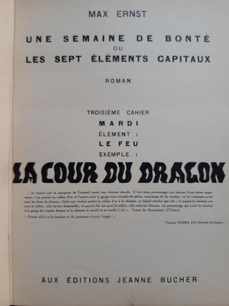 Une Semaine de Bonté - Vintage Rare Book Illustrated by Max Ernst - 1934 For Sale 13