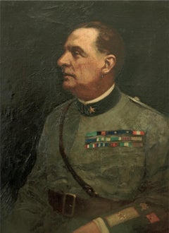 Portrait of General Roberto Bencivenga - Oil painting by F. Bencivenga-1933