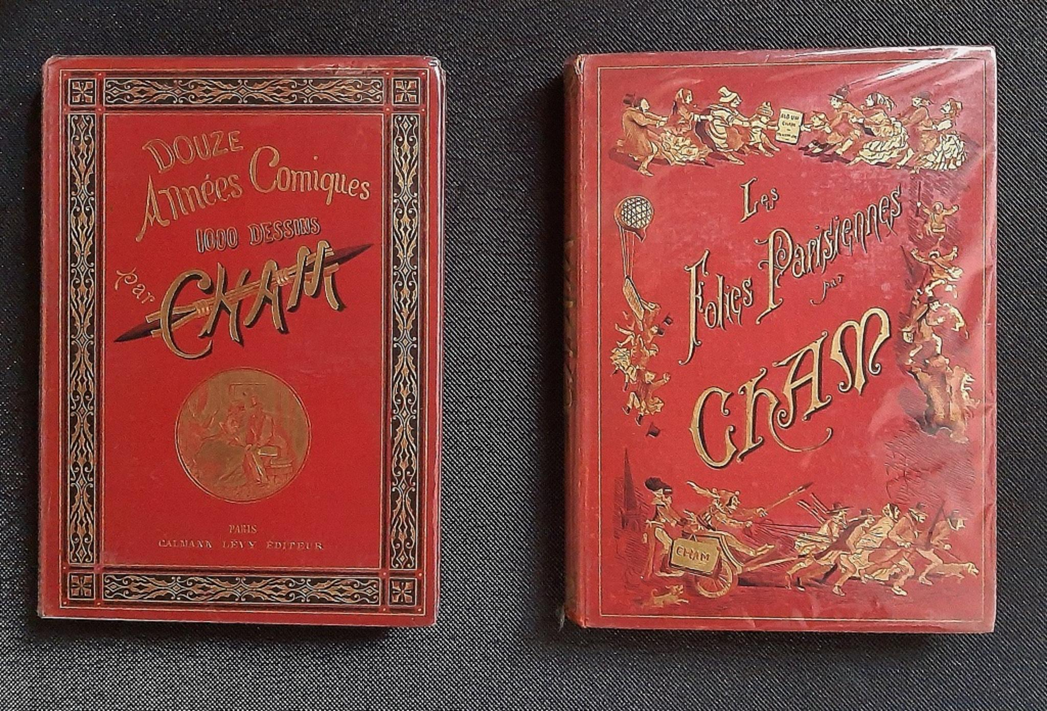 Les Folies Parisiennes - Vintage Rare Book Illustrated by CHAM - 1883