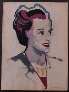 Woman - Original Watercolor by Nicola Simbari - 1960s