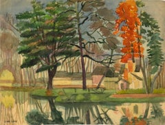 Landscapes - Original Ink, Pastel and Watercolor by Jane Levy - 1930