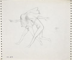Two Figures - Original Drawing - 1970s