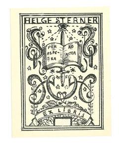 Ex Libris Helge Sterner - Original Woodcut - Early 20th Century