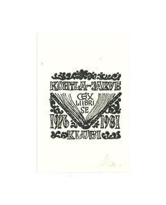 Ex Libris Kohtla - Jarve - Original Woodcut - Early 20th Century