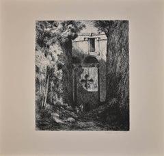 Lalibela - Bièt Gàbriel - Original Etching by Lino Bianchi Barriviera - 1939