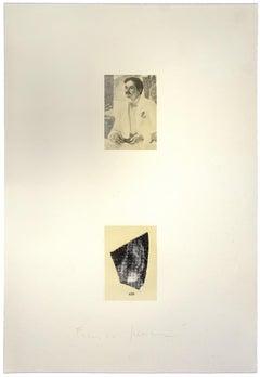 Portrait - Vintage Offset Print by Franco Sarnari - 1970s