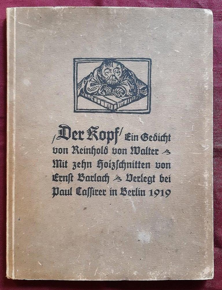 Der Kopf - Rare Book Illustrated by Ernst Barlach - 1919 For Sale 1