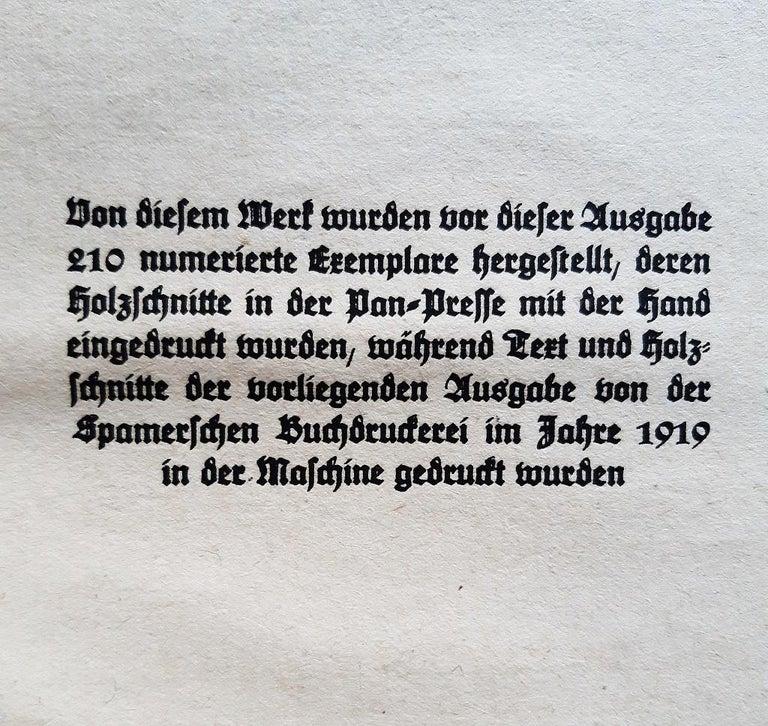 Der Kopf - Rare Book Illustrated by Ernst Barlach - 1919 For Sale 2