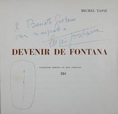 Devenir de Fontana by M. Tapié - Spatialist Drawing by Lucio Fontana - 1961