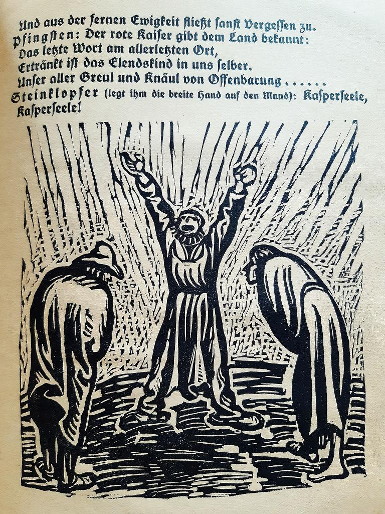 Der Findlich is an original Rare Book illustrated by the Expressionist German artist Ernst Barlach  (1870- 1938) in 1922.  Original First Edition.   Format: in 4°.  Published by Paul Cassirer, Berlin.  The book includes 77 pages and Twenty several