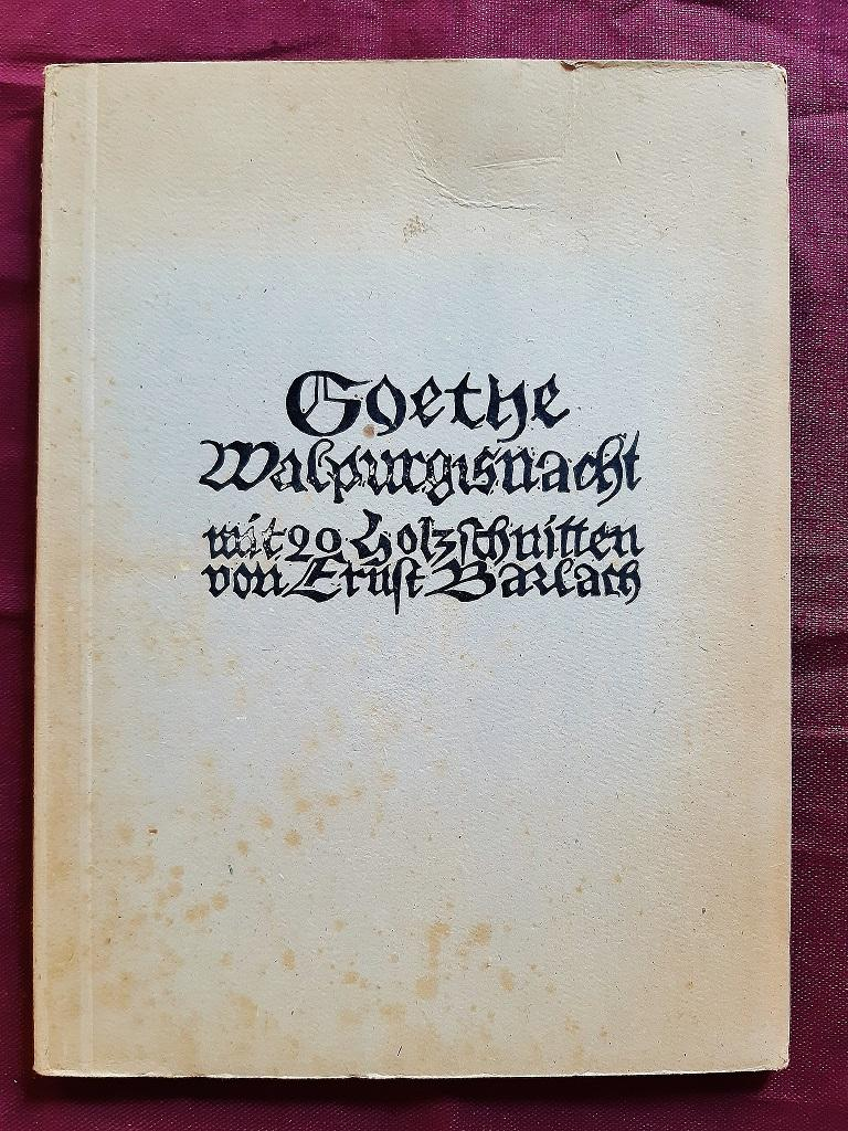 Walpurgisnacht  - Rare Book Illustrated by Ernst Barlach - 1923 For Sale 4