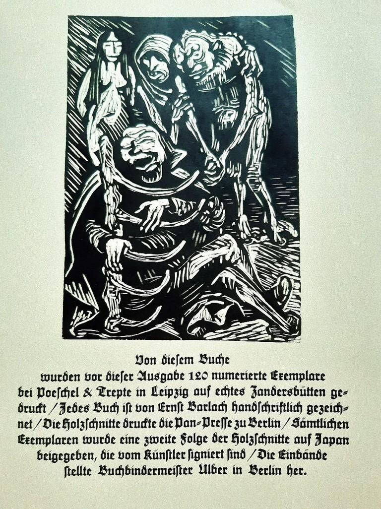 Walpurgisnacht  - Rare Book Illustrated by Ernst Barlach - 1923 For Sale 1