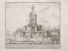The Port of Naples - Original Etching after M. Specchi - Mid-18th Century