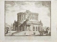 Roman Theater - Original Etching after Michelangelo Specchi - Mid-18th Century