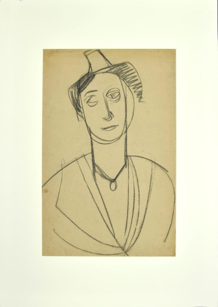 Portrait - Original Pencil Drawing - Early 20th Century