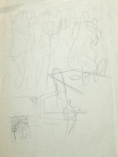 The Dance - Original Pencil Drawing - Early 20th Century