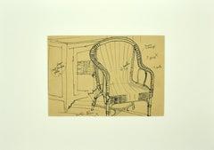 Home interior - Original Ink - Mid-20th Century