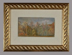 Rome - Original Oil Painting on Panel by Michele Cascella - Mid-20th Century