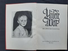 Unsere Welt - Rare Book Illustrated by Kathe Kollwitz - 1928