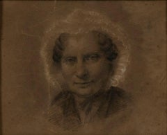 Portrait of an Old Woman - Original Pencil Drawing - Late 18th Century