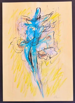 Abstract Figure - Original Mixed Media Drawing by Claudio Palmieri - 2016
