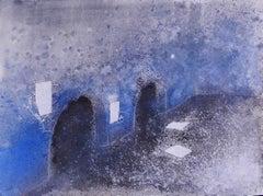 Roman Subterranean - Original Mixed Media Drawing - Late 20th Century