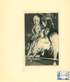 Horse - Original Etching after H. Farge - 1923