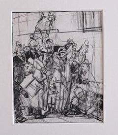 Figures - Original Pencil and Pen on Paper by Gabriele Galantara - 1909