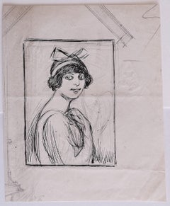 Portrait - Original Pencil and Pen by Gabriele Galantara - 1909