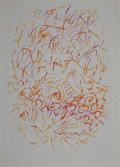 Piecewise Composition - Original Lithograph by Jean René Bazaine - 1968